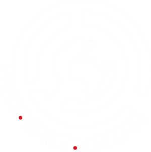 Site Logo, globe with other world escapes written around it